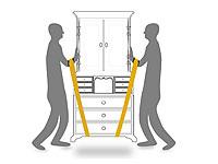 tragehilfe f r m bel schr nke tragegurt umzugshilfe transporthilfe umzugshelfer ebay. Black Bedroom Furniture Sets. Home Design Ideas