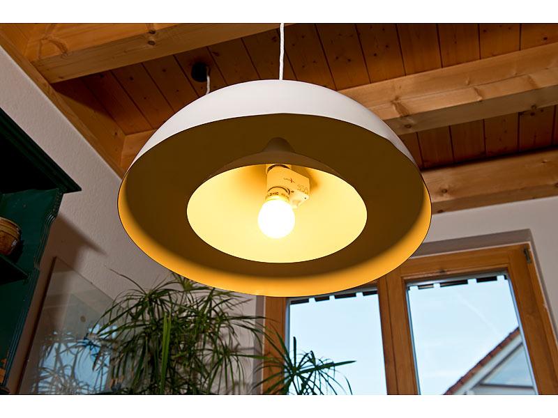 lunartec lampenfassung mit radar bewegungsmelder 360 e27 innen au en bereich ebay. Black Bedroom Furniture Sets. Home Design Ideas